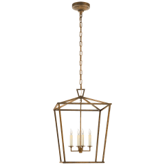 Darlana Medium Lantern in Gilded Iron