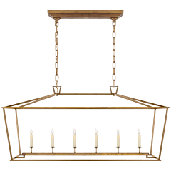 Darlana Large Linear Lantern in Gilded Iron