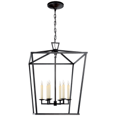 Darlana Large Lantern in Aged Iron