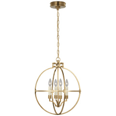 """Lexie 18"""" Globe Lantern in Antique-Burnished Brass"""
