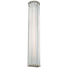 """Kean 28"""" Sconce in Polished Nickel with Clear Glass Rods"""