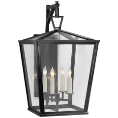 Darlana Medium Bracket Lantern in Bronze