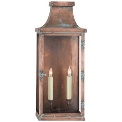 Bedford Wide Tall 3/4 Lantern in Natural Copper