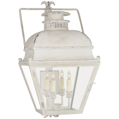 Holborn Small Bracketed Wall Lantern in Old White with Clear Glass