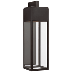 Irvine Grande Bracketed Wall Lantern in Bronze with Clear Glass