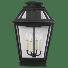 Falmouth Large Outdoor Wall Lantern Dark Weathered Zinc