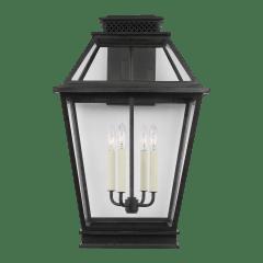 Falmouth Extra Large Outdoor Wall Lantern Dark Weathered Zinc