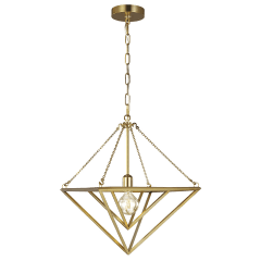 Carat Small Pendant Burnished Brass