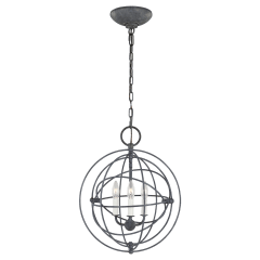 Bayberry Small Pendant Weathered Galvanized