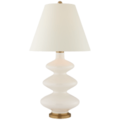 Smith Medium Table Lamp in Ivory with Natural Percale Shade