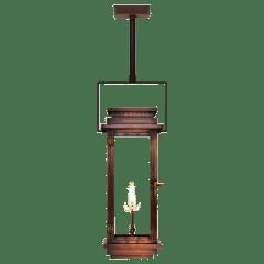 "Contempo 24"" Contemporary Yoke Ceiling Lantern in Antique Copper, Gas"
