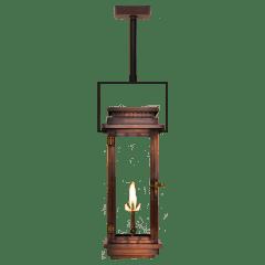 "Contempo 31"" Contemporary Yoke Ceiling Lantern in Antique Copper, Gas"