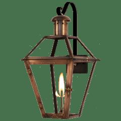 "Georgetown 20"" Farmhouse Hook Wall Lantern in Antique Copper, Gas"
