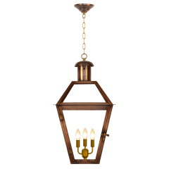 """Georgetown 27"""" Chain Mount Ceiling Lantern in Antique Copper, Electric"""