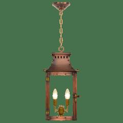 "Market Street 16"" Chain Mount Ceiling Lantern in Antique Copper, Electric"