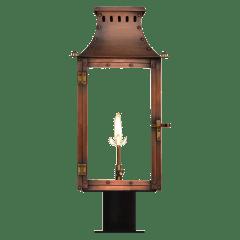 "Market Street 19"" Post Lantern in Antique Copper, Gas"
