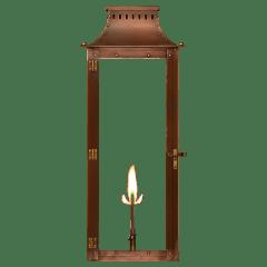 """Market Street 30"""" Wall Lantern in Antique Copper, Gas"""