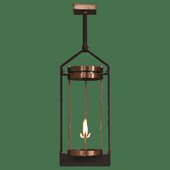 "Paradise Bay 24"" Contemporary Yoke Ceiling Lantern in Antique Copper, Gas"