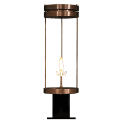 """Paradise Bay 24"""" Post Lantern in Antique Copper, Gas"""