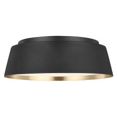 Asher Flush Mount Midnight Black