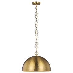 Whare Medium Pendant Burnished Brass