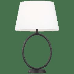 Indo Table Lamp Aged Iron Bulbs Inc