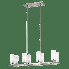 Jonah Linear Chandelier Satin Nickel / Chrome Bulbs Inc