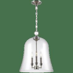 Lawler Bell Pendant Satin Nickel