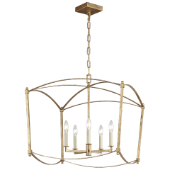 Thayer Wide Lantern Antique Gild