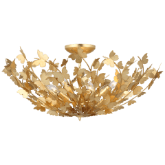 Farfalle Large Semi-Flush Mount in Gild