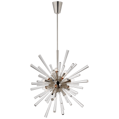 Chiara Large Sputnik Chandelier in Polished Nickel and Clear Acrylic