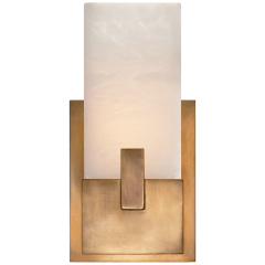 Covet Short Clip Bath Sconce in Antique-Burnished Brass