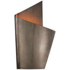 Piel Right Wrapped Sconce in Pewter