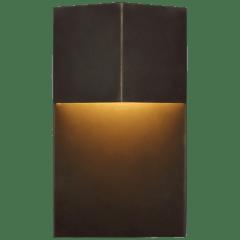 "Rega 12"" Wide Sconce in Bronze"