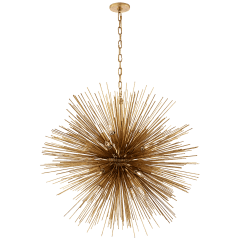Strada Large Round Chandelier in Gild