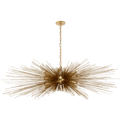Strada Large Linear Chandelier in Gild