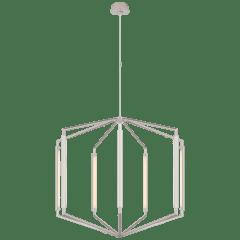 Appareil Large Lantern in Polished Nickel