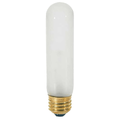 4W T10 Frosted LED Dimmable E26 2700K 350lm 120V Medium Base
