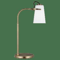 Hazel Task Table Lamp Time Worn Brass Bulbs Inc