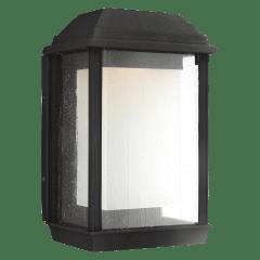 McHenry Medium LED Lantern Textured Black Bulbs Inc