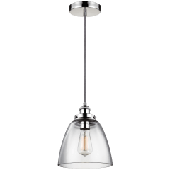 Baskin Dome Pendant Polished Nickel