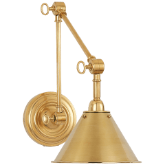 Anette Library Light in Natural Brass