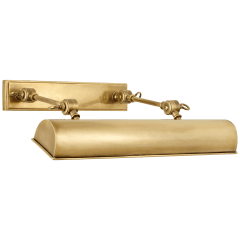 "Anette 16"" Picture Light in Natural Brass"