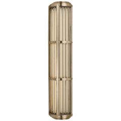 Perren Large Wall Sconce in Natural Brass and Glass Rods