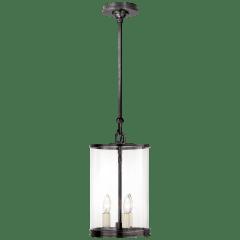 Modern Small Lantern in Bronze