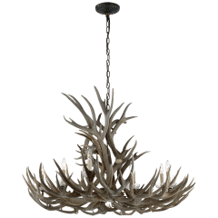 Straton Wide Chandelier in Natural Bone