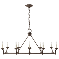Robertson Linear Chandelier in Natural Rust