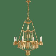 Natalie Large Chandelier in Natural Brass