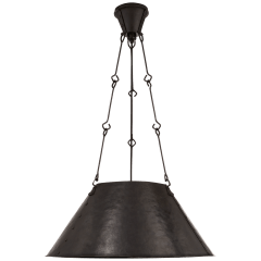 Naomi Hand-Forged Hanging Shade in Aged Iron