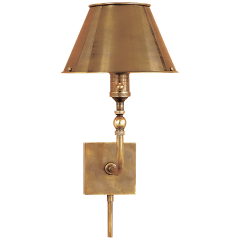 Swivel Head Wall Lamp in Hand-Rubbed Antique Brass